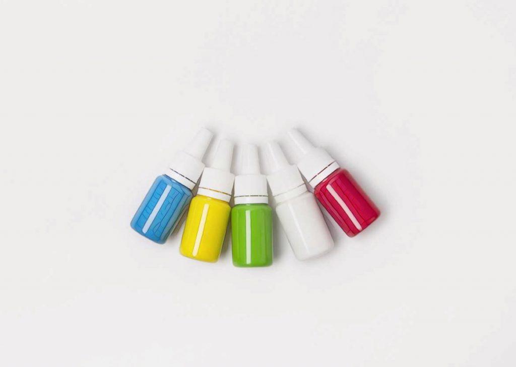 тюбики красок для тату