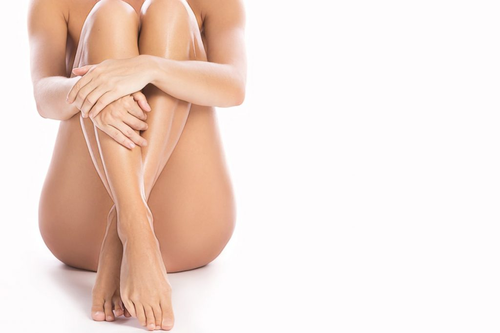 гладкая кожа после энзимной эпиляции